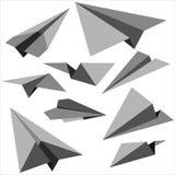 纸飞机设置了 免版税库存图片