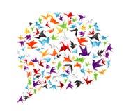 纸鸟呼出 免版税库存照片
