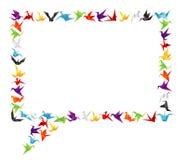 纸鸟呼出 图库摄影