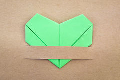 纸绿色心脏 图库摄影