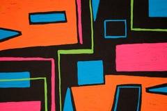 纹理、背景和一张原始的抽象绘画的五颜六色的图象 免版税库存图片