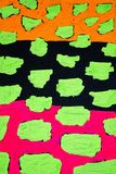纹理、背景和一张原始的抽象绘画的五颜六色的图象 免版税库存照片