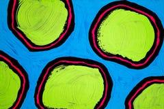 纹理、背景和一张原始的抽象绘画的五颜六色的图象 免版税图库摄影