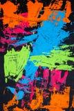纹理、背景和一张原始的抽象绘画的五颜六色的图象 图库摄影