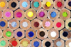 纹理作为背景的色的铅笔 库存图片