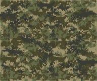 纹理军事伪装重复无缝的军队 免版税库存照片