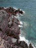 纹理在石头和水中在意大利 库存图片