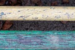 纹理或背景的板条木五颜六色的结构 免版税库存照片