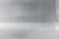 纹理掠过的钢板金属背景  免版税图库摄影