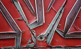 纹理是金属的 从一老生锈的工业背景 图库摄影