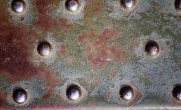纹理是金属的 从一老生锈的工业背景 库存图片