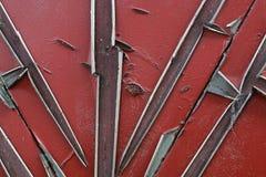 纹理是金属的 从一老生锈的工业背景 免版税库存图片