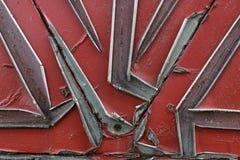 纹理是金属的 从一老生锈的工业背景 免版税图库摄影