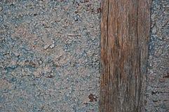 纹理木老蓝色背景 库存照片
