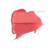 纹理样品和嘴唇的一支双重唇膏 免版税库存照片