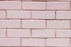 纹理桃红色砖墙 免版税库存图片