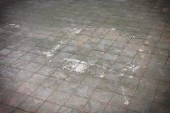 纹理横渡的瓦片地板,老化作用 免版税图库摄影