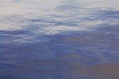 纹理波纹海水 免版税库存照片
