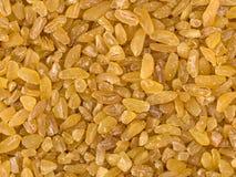 纹理的未加工的碾碎干小麦关闭 免版税库存照片