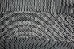 纹理的黑和灰色综合性尼龙织品织法 免版税库存照片