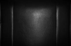 纹理的黑色皮革 库存图片