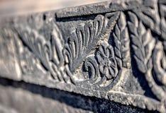 纹理石雕塑 扶手椅子 库存照片