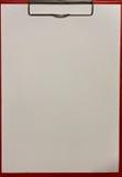 纹理纸和红色剪贴板 库存图片