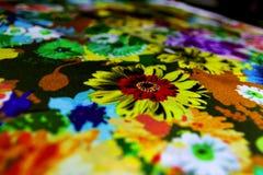 纹理纺织品五颜六色的帆布 免版税库存照片