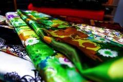 纹理纺织品五颜六色的帆布 库存图片