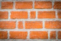 纹理背景的橙色砖块墙壁 图库摄影