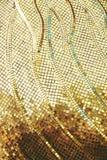 纹理背景的金黄色方形的锦砖 库存图片