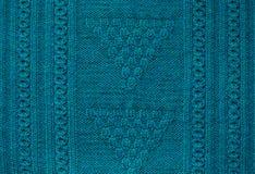 纹理被编织的手工制造 圣诞节毛线衣关闭 抽象背景 免版税库存照片