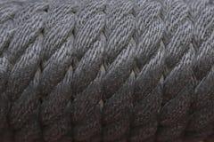 纹理详述黑绳索 免版税库存照片
