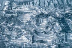 纹理透明冰或玻璃 银色背景 库存照片