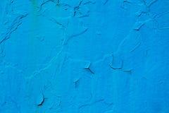 纹理金属表面,被绘的蓝色油漆 库存照片