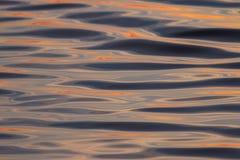 水纹理钢日落桔子 免版税图库摄影