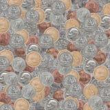 纹理集合美国硬币 图库摄影