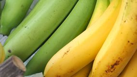 纹理零售照片充分的框架的泰国卡文迪许香蕉关闭 免版税库存图片