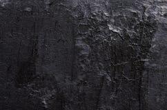 纹理黑破旧的油漆总体上构筑 库存照片