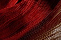 纹理,红色石头在羚羊峡谷亚利桑那,背景 免版税图库摄影