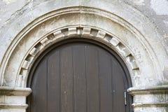 纹理,老木门从中世纪时代 库存图片