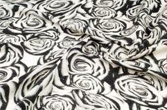 纹理,背景,样式 一条羊毛围巾,黑白, r 免版税库存图片