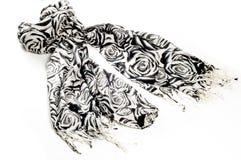 纹理,背景,样式 一条羊毛围巾,黑白, r 免版税图库摄影