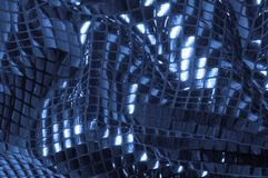 纹理,背景,样式 与蓝色c大闪闪发光的织品  免版税库存照片