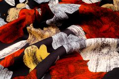 纹理,背景,样式 妇女的丝绸手帕是12月 免版税图库摄影
