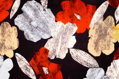 纹理,背景,样式 妇女的丝绸手帕是12月 免版税库存图片
