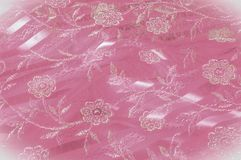 纹理,背景,样式 用花装饰的桃红色鞋带o 免版税库存照片