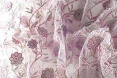 纹理,背景,样式 用花装饰的桃红色鞋带o 免版税库存图片