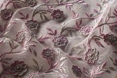纹理,背景,样式 用花装饰的桃红色鞋带o 图库摄影