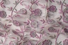纹理,背景,样式 用花装饰的桃红色鞋带o 库存照片